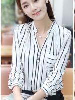 เสื้อสไตล์เกาหลี แต่งดีเทลด้านหน้าเก๋ๆ เนื้อผ้าดีสวมใส่สะบาย สีดำ งานนำเข้าแท้คุณภาพดี พรีออเดอร์ไม่มีปิดรอบ