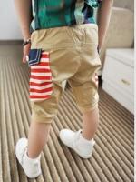 กางเกงสามส่วนเด็ก สีครีม เก๋ๆเทห์ๆ สไตล์ เกาหลี
