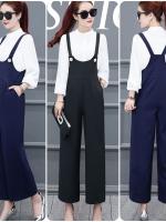 ชุดเอี้ยมกางเกงสไตล์เกาหลี เนื้อผ้าดีสวมใส่สะบาย งานนำเข้าแท้คุณภาพดี