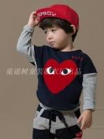 Huanshu kids เสื้อกันหนาวแฟชั่นเด็กสีน้ำเงิน- เทา เก๋มาก น่ารักสไตล์เกาหลี ( ผ้าหนา )