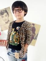 Huanzhu kids ชุดแฟชั่นเด็กเสื้อกันหนาวลายเสือ เนื้อผ้านิ่ม น่ารักสไตล์เกาหลี