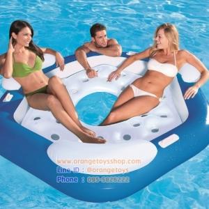 แพยางเป่าลม แบบสามที่นั่ง สำหรับ 3 ท่าน Inflatable Island 3-Person Bestway 43111 + ที่สูบลมไฟฟ้า
