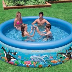 """( ขนาด 10 ฟุต ) Intex สระอีซี่เซ็ต 10 ฟุต (305 x 76 ซม.) Easy Set Pool """"Ocean Reef"""" 76 x 305 cm Intex 28124"""