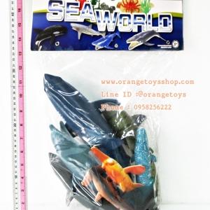 ชุดสัตว์ทะเล ฉลามรวม โลมา วาฬ 11 ตัว รุ่นใหม่ **PH010411A16**