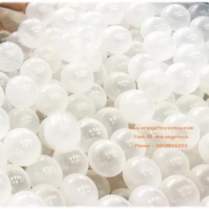"""(100 ลูก ) บอลนิ่ม ลูกบอล ขนาด 3"""" ลูกบอลใส Snow Ball Antibacterial จำนวน 100 ลูก **ถุงตาข่าย**"""