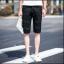 กางเกงขาสั้นสตรีทแฟชั่น Denim : สีดำ thumbnail 2