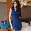 เดรสสั้นให้นม คอวี 052 มีสี ชมพู/ น้ำเงินเข้ม/ เหลืองแอพพริคอท thumbnail 8