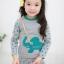 Huanzhu kids ชุดเซตเด็กหญิง 2 ชิ้น เสื้อ+กางเกง ผ้าเนื้อดีน่ารักสไตล์เกาหลี มีขนาด140 thumbnail 2