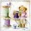 กระดาษสาพิมพ์ลาย rice paper เป็น กระดาษาสา สำหรับทำงาน เดคูพาจ Decoupage แนวภาพ หมีกะด้าย :) หมีน้อย เท็ดดี้ แบร์ teddy bear แต่งตัวสวยหวานเตรียมงานเย็บปักถักร้อย (ปลาดาวดีไซน์) thumbnail 1
