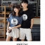 เสื้อคู่รักแขนสั้นมีลายสไตล์เกาหลี thumbnail 3