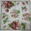 แนวภาพดอกไม้ ดอกกุหลาบหวาน บนพื้นขาว กระดาษแนพกิ้นสำหรับทำงาน เดคูพาจ Decoupage Paper Napkins ขนาด 33X33cm thumbnail 2