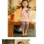 ชุดเซตเด็กหญิง 2 ชิ้น เสื้อ+กางเกง ผ้าเนื้อดีน่ารักสไตล์เกาหลี ( สีชมพู ) thumbnail 2