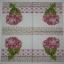 แนวภาพดอกไม้ เป็นช่อดอกไฮเดยเยียสีชมพูบนลายแต่ง เป็นภาพ 4 บล๊อค กระดาษแนพกิ้นสำหรับทำงาน เดคูพาจ Decoupage Paper Napkins ขนาด 33X33cm thumbnail 2