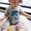 ชุดแฟชั่นเด็ก 2 ชิ้น เสื้อสีเทา สกีนหน้าอก + กางเกง น่ารัก สไตล์เกาหลี(เด็ก 6 เดือน-3ขวบ ค่ะ) ขนาด5 thumbnail 2