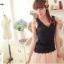 WG018 เสื้อกล้าม ซับใน ผ้าลูกไม้ สวยน่ารัก มี 3 สี ขาว ครีม ดำ thumbnail 2