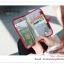GB281 กระเป๋าใส่พาสปอร์ต กระเป๋าถือ ใส่เงิน นามบัตร บัตรATM มือถือ ใส่ของจุกจิก เอกสารต่างๆ ขนาดกระทัดรัด พกพาสะดวก มีช่องจัดเก็บหลายช่อง ขนาด ยาว 12.5 (กางออก 25 ซม.) x สูง 22 ซม. thumbnail 6