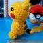ตุ๊กตาถัก โครเชต์ 001 POKEMON PIKACHU แบบนั่ง ขนาดเล็ก thumbnail 6