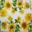 แนวภาพดอกไม้ เป็นแนวดอกทานตะวัน เป็นภาพครึ่งแผ่น กระดาษแนพกิ้นสำหรับทำงาน เดคูพาจ Decoupage Paper Napkins ขนาด 33X33cm thumbnail 2