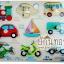 กระดานจิ๊กซอว์จุกไม้รูปยานพาหนะ 2 ภาษา จีน-อังกฤษ thumbnail 1