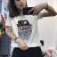 เสื้อยืดแขนสั้น ปักเลื่อมลายการ์ตูนนกฮูกตัวใหญ่ที่กลางเสื้อ มี 2 สี คือ ขาวและดำค่ะ thumbnail 1