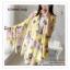 PR030-B ผ้าพันคอแฟชั่น ผ้าไหม พิมพ์ลายสวย ขนาด ยาว 190 กว้าง 160 cm. thumbnail 8