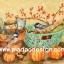 กระดาษอาร์ตพิมพ์ลาย สำหรับทำงาน เดคูพาจ Decoupage แนวภาำพ นกน้อยตัวอ้วนกลม 2 ตัว นั่งเล่นอยู่ในกระถาง กับบุ้งกี๋ปลูกดอกไม้แดง เป็นภาพวาดสีสวยคลาสสิค (ปลาดาวดีไซน์) thumbnail 1