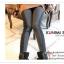 LG040 กางเกงเลคกิ้งขายาว สีเทาเข้ม ประดับด้วยผ้าลูกไม้ที่ด้านข้างกางเกง เอวยางยืด กางเกงทรงสวยคะ thumbnail 6