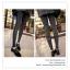 LG040 กางเกงเลคกิ้งขายาว สีเทาเข้ม ประดับด้วยผ้าลูกไม้ที่ด้านข้างกางเกง เอวยางยืด กางเกงทรงสวยคะ thumbnail 3
