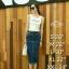 หมดค่ะ:Denim Skirt Korea design กระโปรงยีนส์ทรงดินสอ ผ่าหลัง เน้อผ้ายีนส์ยืดนะคะ ใส่สวยมากเก็บสะโพก ใส่แล้วดูหุ่นเพรียว แมตซ์กับเสื้อแบบไหนก็เข้าหมดค่ะ thumbnail 1