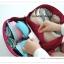 GB099 กระเป๋าใส่ชุดชั้นใน กางเกงใน ถุงเท้า ผ้าขนหนู ผ้าอ้อม ของใช้จุกจิกทั่วไป มี 4 สี ชมพู ฟ้า เทา เขียว พร้อมหูหิว งานคุณภาพ thumbnail 11