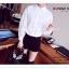 VS042 เสื้อเชิ้ต สีขาว ผ้าลูกไม้ มีซับใน คอปก กระดุมผ่าหน้า งานสวยคะ thumbnail 5