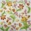 แนวภาพดอกไม้ เป็นช่อดอกไม้สีขาวสีเหลือง เป็นภาพกระจายเต็มแผ่น กระดาษแนพกิ้นสำหรับทำงาน เดคูพาจ Decoupage Paper Napkins ขนาด 33X33cm thumbnail 2