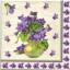 แนวภาพดอกไม้ เป็นกระถางดอกไม้โทนภาพสีม่วง บนพื้นขาว เป็นภาพ 4 บล๊อค กระดาษแนพกิ้นสำหรับทำงาน เดคูพาจ Decoupage Paper Napkins ขนาด 33X33cm thumbnail 1