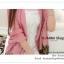 PR046-B ผ้าพันคอแฟชั่น ผ้าซาติน สีชมพู พิมพ์ลายสวย ขนาด ยาว 180 กว้าง 90 cm. thumbnail 4