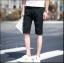 กางเกงขาสั้นสตรีทแฟชั่น Denim : สีดำ thumbnail 3