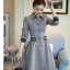 เสื้อแฟชั่นผ้าฝ้าเดรสสไตลเกาหลี-เทา thumbnail 3