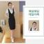กระโปรงชุดสูทแฟชั่น 2 ชิ้น สไตล์เกาหลี -ดำลาย thumbnail 5