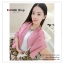 PR046-B ผ้าพันคอแฟชั่น ผ้าซาติน สีชมพู พิมพ์ลายสวย ขนาด ยาว 180 กว้าง 90 cm. thumbnail 2