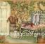 กระดาษอาร์ตพิมพ์ลาย สำหรับทำงาน เดคูพาจ Decoupage แนวภาพ บ้านและสวน เก้าอี้เหล็กสีขาวมีหมอนอิงสีสวยหวาน วางตั้งอยู่หน้าบ้านไว้ชมสวนสวย (ปลาดาวดีไซน์) thumbnail 1