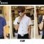 เสื้อเชิ๊ตแขนสั่้น ลายจุด แฟชั่นเกาหลี เสื้อผ้าทอม#02[Pre-Order] thumbnail 3