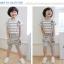 Huanzhu kids ชุดเซตเด็ก เสื้อ +กางเกง ตกแต่งคล้ายสายเอี้ยม น่ารักสไตล์เกาหลี เก๋มากค่ะ thumbnail 2