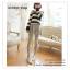 LG051 กางเกงเลคกิ้งขายาว สีเทา มีผ้าประดับเป็นกระโปรง หวานน่ารัก thumbnail 2