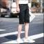 กางเกงขาสั้นสตรีทแฟชั่น Denim : สีดำ thumbnail 5