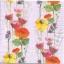 แนวภาพดอกไม้ เป็นช่อดอกป๊อปปี้เป็นสาย บนพื้นสีม่วงอ่อน เป็นภาพเต็ม กระดาษแนพกิ้นสำหรับทำงาน เดคูพาจ Decoupage Paper Napkins ขนาด 33X33cm thumbnail 1