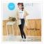 LG044 กางเกงสกินนี้ขายาว ทรงสวย เข้ารูป เนื้อผ้ายืดหยุ่น มี 2 สี สีขาว สีดำ thumbnail 5