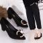 รองเท้า แฟชั่น เกาหลี หัวตัวC J004 thumbnail 3