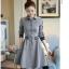 เสื้อแฟชั่นผ้าฝ้าเดรสสไตลเกาหลี-เทา thumbnail 8