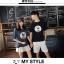 เสื้อคู่รักแขนสั้นมีลายสไตล์เกาหลี thumbnail 2