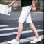 กางเกงขาสั้นสตรีทแฟชั่น Denim : สีขาว thumbnail 4