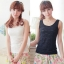 WG015 เสื้อกล้ามซับในเต็มตัว ผ้าลูกไม้ สวยหวาน มี 3 สี ขาว ครีม ดำ thumbnail 1